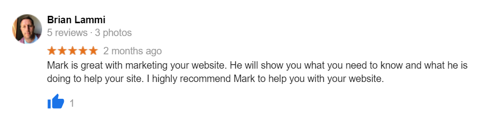 Brian testimonial for Ma Consulting Services